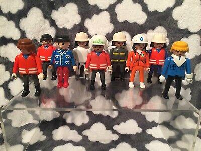9 Vintage Playmobil Figures Characters Toy Bundle