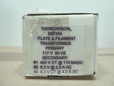 Thordarson 26r164 Plate Filament Transformer Primary 117v 60hz Sec 400v 6.3v