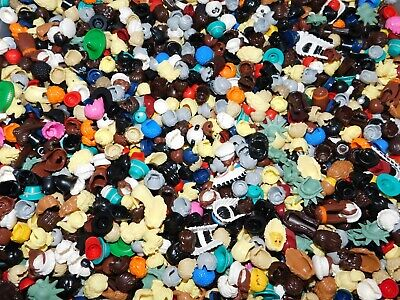 LEGO BULK LOT OF 50 NEW MINIFIGURE HAIR HATS BROWN BLACK GIRL BOY MINIFIG WIGS - Bulk Wigs