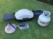 Weber Q Portable Bbq with side tables + LPG Gas barbecue bottle Russell Lea Canada Bay Area Preview