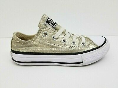 Kids Girls Converse (Converse All Star Chuck Taylor Gold Glitter Kids Girls Shoe Size 11)