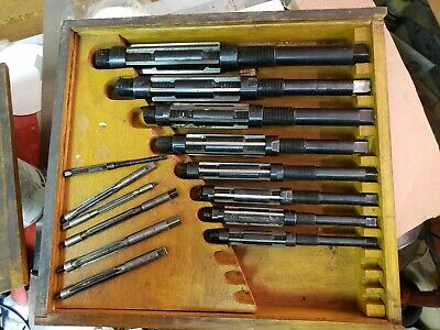14-pc Adjustable Hss Hand Reamers In Wood Box