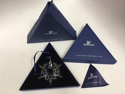 Swarovski Crystal 2007 Snowflake Ornament with Box and COA