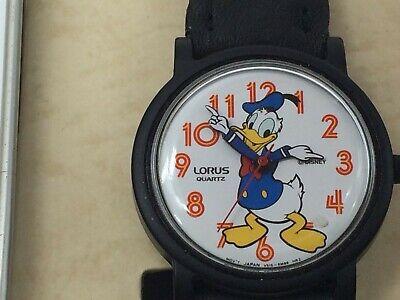 Vintage Lorus Quartz Disney DONALD DUCK Watch with Case~No Lid