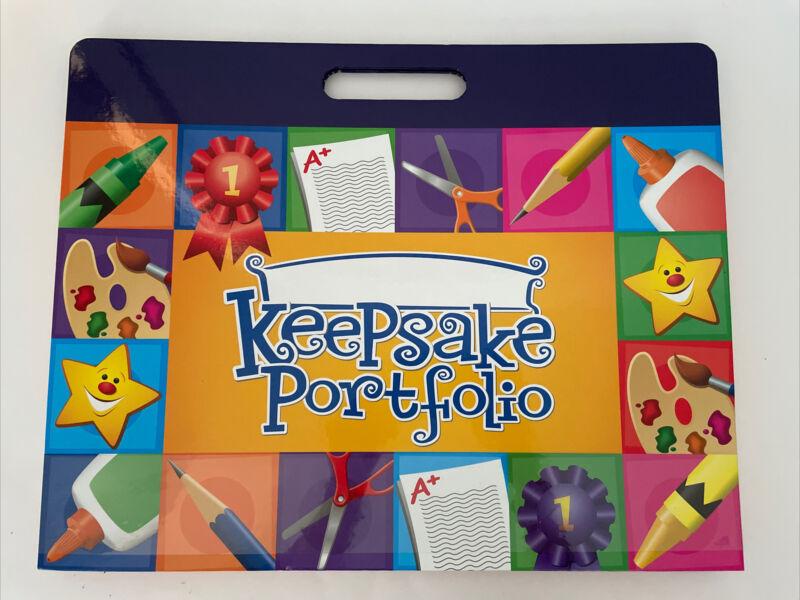 "Lakeshore MY KEEPSAKE PORTFOLIO Holds Up To 12"" x 18"" Paper 8 Expand Pockets"