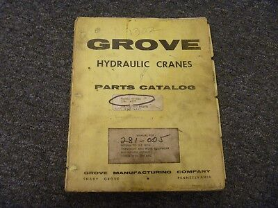 Grove Model Rt60s Hydraulic Rough Terrain Crane Owner Operator User Manual