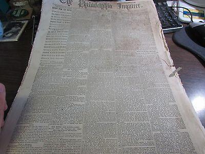CIVIL WAR - THE PHILADELPHIA INQUIRER DEC 12TH 1864 - ORIGINAL