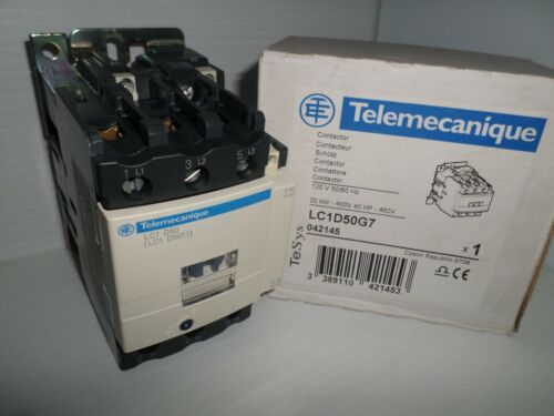 ***NEW IN BOX*** TELEMECANIQUE LC1D50G7 Schneider Electric 3-Pole CONTACTOR 120v
