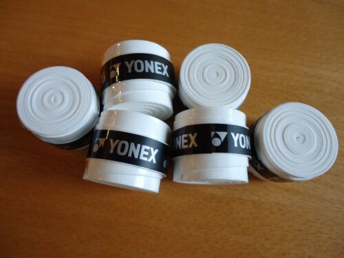 6 New yonex badminton tennis super grap grip overgrip overgrap (white)