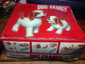 Antique Dog Family Boxed Toy Not working Perfect Visual condition Oatley Hurstville Area Preview