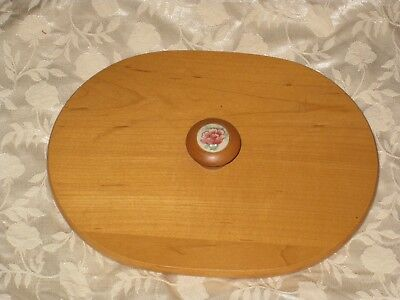 2001 Longaberger Mother's Day Vintage Blossoms Wood Crafts Lid Guc Usa (Mother's Day Crafts)