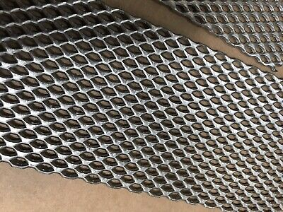 2 Titanium Mesh For Anodizing Or Plating. Durable .078 Thick With Mounting Tab