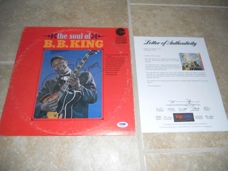 BB King Blues IP Signed Autographed The Soul Of Album LP PSA Certified