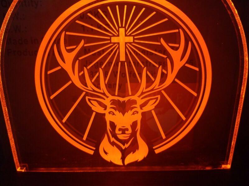 Jagermeister Whiskey buck deer light up led back bar sign game room man cave new