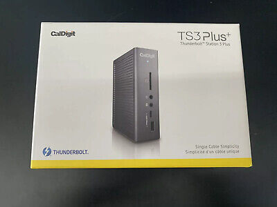 NIB CalDigit TS3 Plus Thunderbolt Station 3 Space Gray with thunderbolt cable