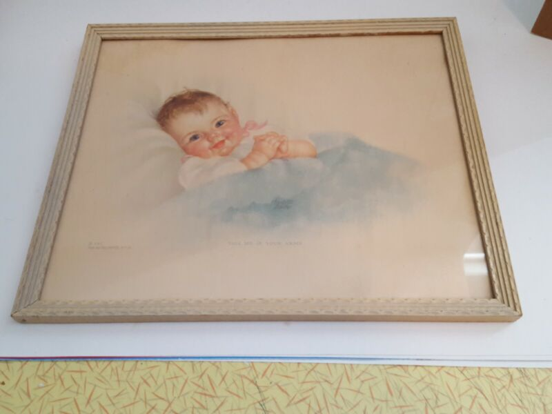 Baby Print - Take Me In Your Arms - By Charlotte Becker - Original Frame 1940