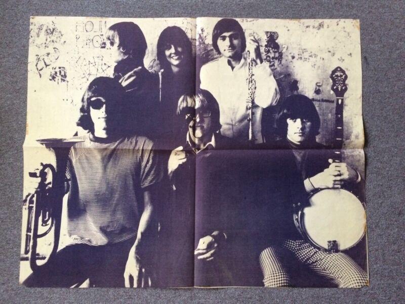 Jefferson Airplane Herb Greene, 1966 Photo Music Poster 35 X 43 Rare