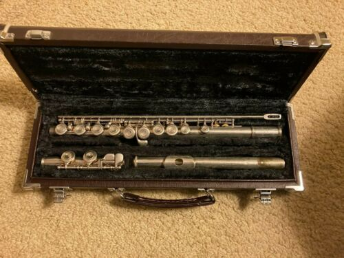Vintage Yamaha YFL-24S Silver Plated Flute with Original Case Made in Japan-NICE