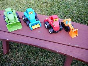 4 x toy farm tractors equipment machinery red green blue red oran Carindale Brisbane South East Preview