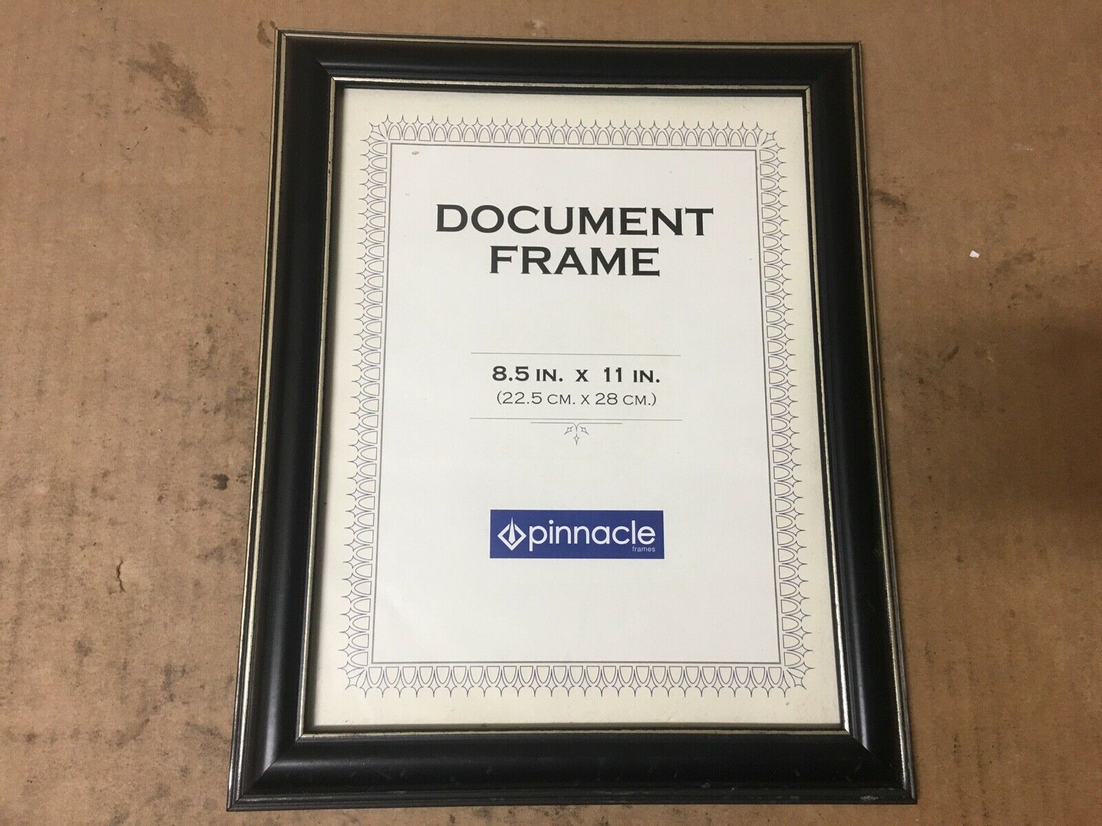 Pinnacle 8.5x11  Wall or Tabletop Document Frame