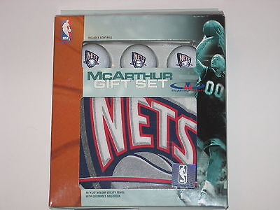 New Jersey Nets Golf (New Jersey Nets Golf Balls & Towel Gift Set- Includes 3 Logo Balls and 1 Towel )