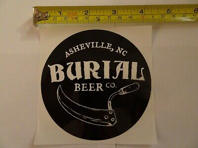Burial Beer Brewing Company Asheville, NC Brewery Bumper Sticker