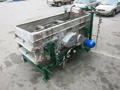 Sweco 100x 44 Um3-2w Double Deck Stainless Vibratory Screen Vibrating Screener