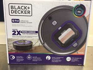 BLACK+DECKER Pet Robotic Vacuum with LED and Smartech!