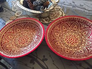 Gold pattern Oriental Bowls