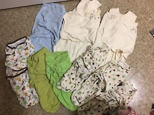 12 swaddle  me blankets.