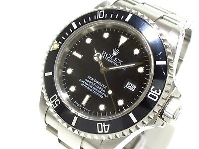 Auth ROLEX Sea-Dweller 16600 Silver Men