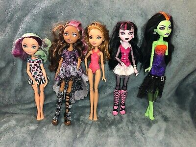 Lot of 5 Monster High Ever After High Dolls As Is See Pics Read Description