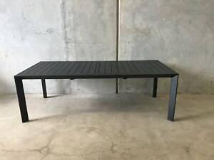 Morocco Dining Table In Black Aluminium Loganholme Logan Area Preview