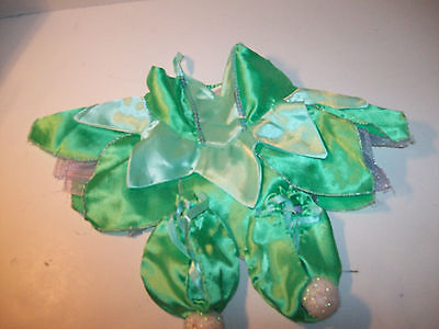 Build A Bear Clothing~Dress~Green Fairy Outfit~Matching Lace Up  Slippers~Z2](Green Fairy Outfit)