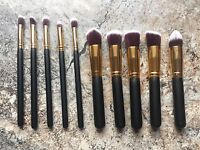 Brand New Professional Makeup Brushes. Set of 10