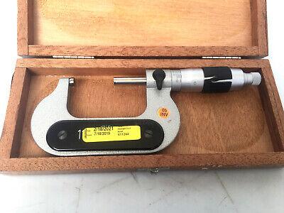 Etalon Outside Micrometer 1 - 2 .0001 Resolution Good Condition