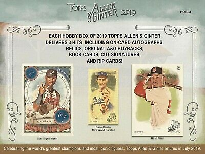 2019 Topps Allen & Ginter CHOOSE YOUR SINGLE CARD (201-400) - In Hand