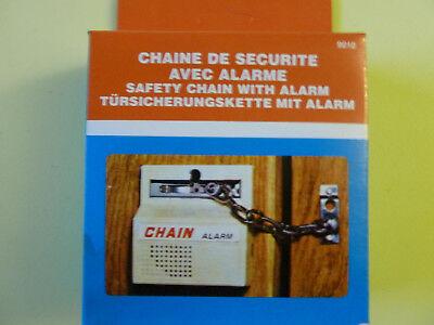 Türsicherungskette / Türkette mit Alarm / Alarmanlage