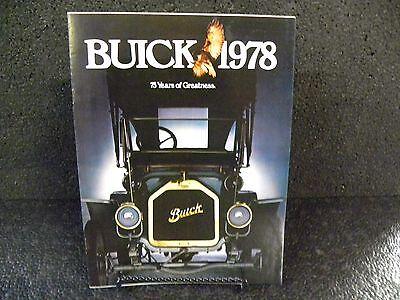 1978 Buick Car Dealer Brochure Literature Advertising