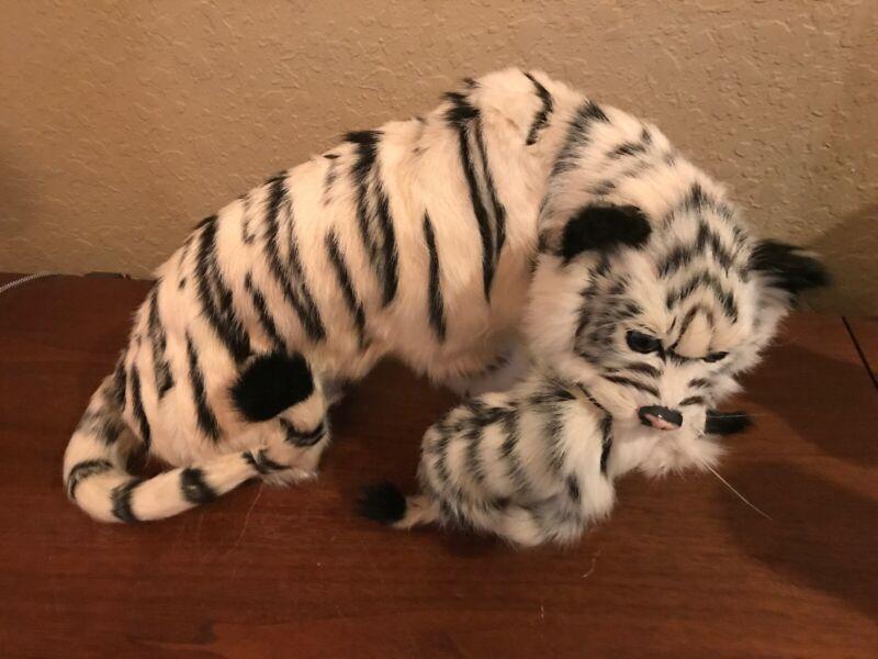 Realistic Lifelike Siberian Tiger with Cub Goat Fur Furry Animal New