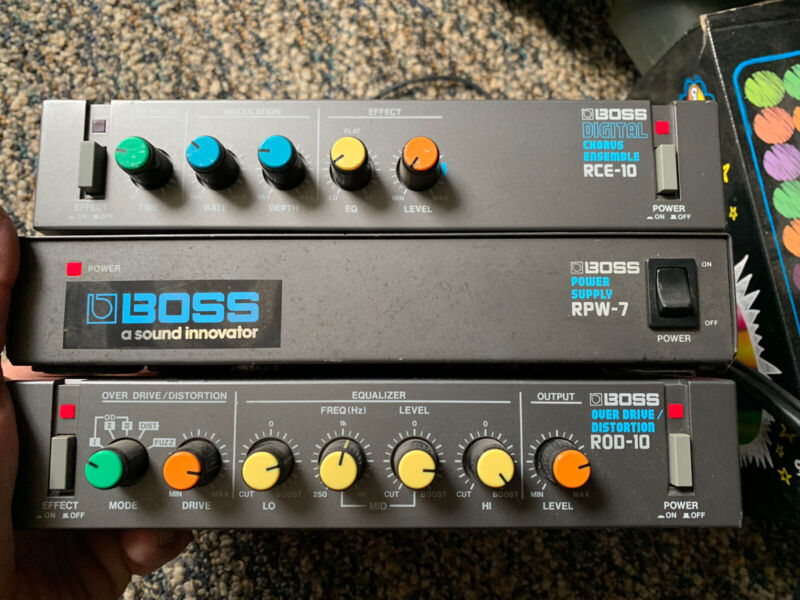 BOSS ROD-10 & RCE & RPW multi-distortion & overdrive modules !! 3 Units!