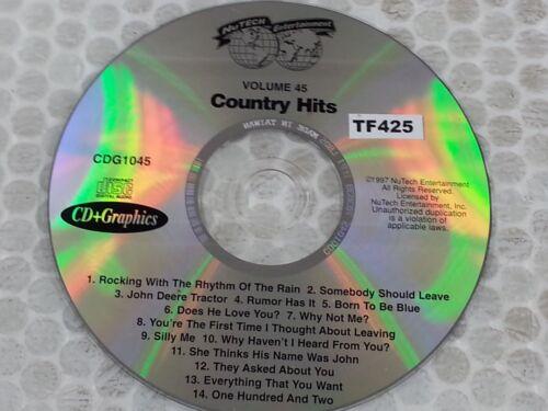 Nutech Entertainment Karaoke Disc CDG1045 Country Hits CD+G