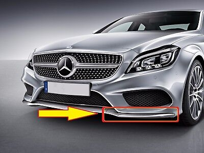 NEW GENUINE MERCEDES MB CLS W218 AMG FRONT BUMPER LOWER CHROME LIP LEFT N/S