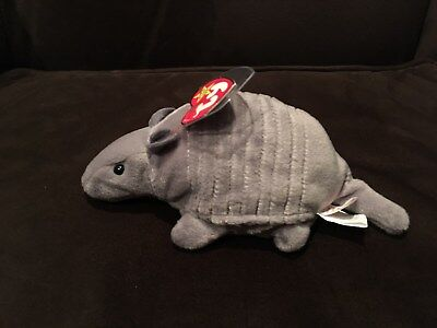 Rare Tank Ty Beanie Baby THE ARMADILLO PVC With Double Tush Tags  for sale  Girard
