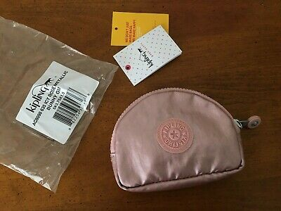 BRAND NEW W/TAGS!  KIPLING, BUNNY WALLET, ICY ROSE METALLIC, COIN PURSE