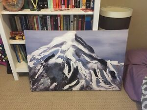 Canvas Mountain Picture