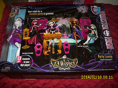 MONSTER HIGH PARTY LOUNGE & SPECTRA VONDERGEIST CONNECTS TO MP3 PLAYER 13 WISHES](Monster High Party Games)