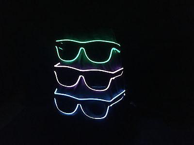 Gläser Blinkbrille LED Brille Neon Party Fun Sonnenbrille  (Brille Led)