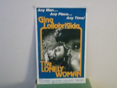 """Gina Lollobrigida,""""THE LONELY WOMAN"""",US,Poster Service advertising folder,MINT-"""