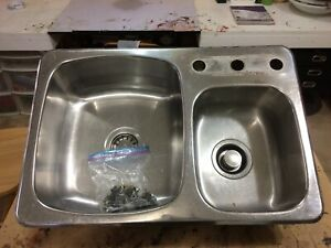Stainless sink and garburator